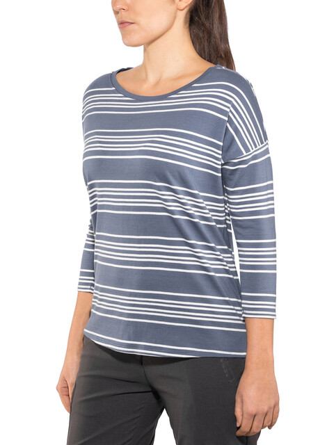 Patagonia W's Shallow Seas 3/4 Sleeved Top Lightning Stripe: Dolomite Blue